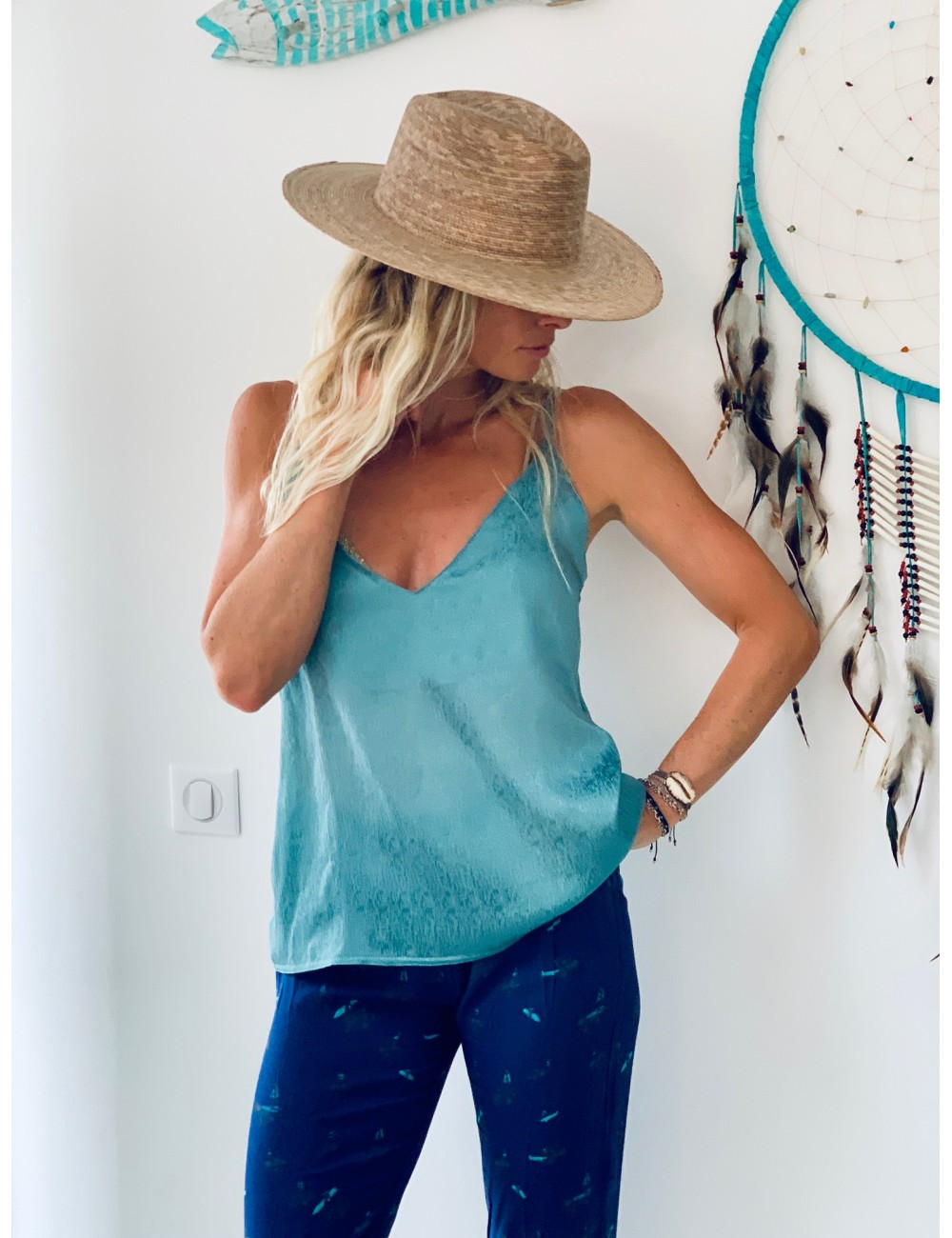 Wavy camisole - Collection Emerauld 2020 - Ematesse